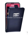 Кожаный чехол для Samsung Galaxy S2 (i9100) Aston Martin Racing Leather Flip Case, цвет Black (FCSAM91001A)