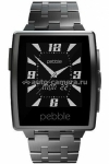 Умные наручные часы для iPhone, Samsung и HTC Pebble Steel, цвет Brushed Stainless Steel